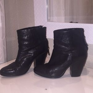 Rag and Bone Newberry Black booties